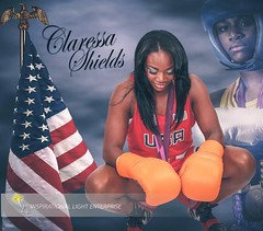Image captured and designed by Inspirational Light Enterprise.  #DailyPost #BeApartOfTheILEexperience #PreferredPhotograpHER  #ClaressaShields #Boxing #Women'sMiddleweight #AmericanBoxer First U.S. Woman to win a boxing #GoldMedal #goldmedalist #Champion (ILE Photo & Video) Tags: boxing champion beapartoftheileexperience women flintstone claressashields goldmedalist americanboxer preferredphotographer iamagraphicdesigner lovemyclients professionalphotography ile internationalphotographer teamile flintmi dailypost goldmedal