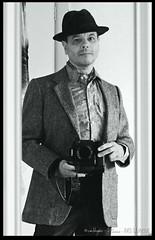 Grainy Selfie II (zweiblumen) Tags: selfie monochrome mirror canoneos50d polariser canonef50mmf18ii zweiblumen