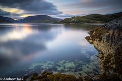 Dawn at Kylesku - explored!! (OnlyEverOneJack) Tags: sony a7r zeiss 1635mm f4 long exposure coast sunrise dawn sea loch glendhu rocks sky smooth water coastline
