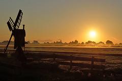 Morning light on 08/30 2016 (Piet Bink (aka)) Tags: zon zonsopkomst zonnig zonlicht zomer buiten outdoor sun sunrise sunny summer sunshine sunlight summertime fog mist mistig sky lucht clouds wolken