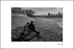 Strand | Dangast (Onascht) Tags: dangast deich lighthouse niedersachsen nikond5200 winter black chair grey meer monochrome northsea sand schwarzweis sea strand white varel deutschland de