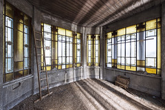 All Along the Watchtower (suspiciousminds) Tags: urbex urbanexploration decay abandoned villa watchtower stainedglass grandeur castle