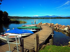 Little pier (anbri22) Tags: anbri littlepier pontile boats barche lake varese lago see landscape paesaggio italy water