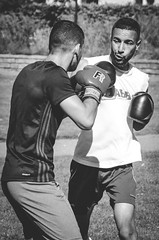 Fighters (M. Andersson) Tags: blackandwhite bw grayscale muaythai training workout fighting boxing streetphotography street