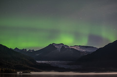 Skaters Cabin lights (asaggiomo1983) Tags: alaska juneau aurora auroraborealis northernlights outdoors nikon landscape glacier night sky mountains