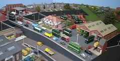 0191 (twilight bear) Tags: model railway bus depot north west london road urban rf rt rm petrol station gas railroad