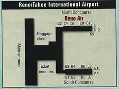 Reno Air Reno airport diagram, 1999 (airbus777) Tags: renoair rno airport terminal diagram map 1999 renotahoe