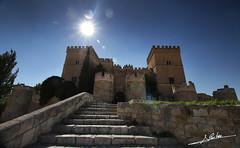 Castillo de Ampudia (Luis Corts Zacaras) Tags: castilla leon castillo ampudia palencia espaa contraluz escalera piedra sol tierra campos