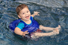 POOL TIME FUN! (canikon1998) Tags: jaden toddler 2 two year years 1 one month pool wet water splash fun time smile excited jump carrollwood village tampa florida fl hillsborough county backyard lanai summer sun hot refreshing cool grandson boy male infant
