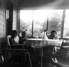 On our front porch... my sister, her friend eating an ice-cream cone and me looking bored just clicking the shutter over and over and over again of an old 1950s Kodak Brownie camera that I bought at a tag sale. Milford Connecticut. July 1972. (wavz13) Tags: oldphotographs oldphotos 1970sphotographs 1970sphotos oldphotography 1970sphotography vintagesnapshots oldsnapshots vintagephotographs vintagephotos vintagephotography filmphotos filmphotography historicphotographs historicphotos historicphotography vintagemilford oldmilford 1970smilford vintagewoodmont oldwoodmont 1970swoodmont connecticutphotographs connecticutphotos oldconnecticutphotography oldconnecticutphotos oldconnecticut vintageconnecticut connecticutphotography vintagenewengland oldnewengland 1970snewengland vintagenewenglandphotography oldnewenglandphotography vintagenewenglandphotos oldnewenglandphotos connecticutshoreline connecticutbeaches milfordbeaches oldfamilyphotos vintagefamilyphotos oldfamilyphotography vintagefamilyphotography 126 126film squareformat instamatic verichromepan grain grainy vintagekids vintagechildren vintageteens vintageteenagers teenmemories teenagememories vintageteengirls vintageteenagegirls female longhair oldclothes vintageclothes oldclothing vintageclothing vintageteenboys vintageteenageboys oldcameras vintagecameras collectablecameras collectiblecameras instamatic104 kodakinstamatic104
