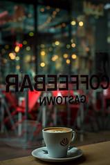 Cafe (Photo Alan) Tags: coffee cafe gastown vancouver canada coffeebar color coffeeshop cap brokeh leicas leicasummarits70mmf25