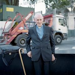Kind man (Gabriela Gleizer) Tags: united kingdom england london urban man priest portrait analog film mamiya c330 tlr twin lens medium format fujicolor 160 uk abingdon st street