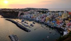 Procida sunset,  Corricella (Wendy_Armstro) Tags: procida napoli ischia islands italia italy