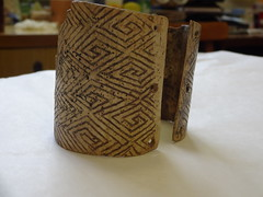 Mezin Paleolithic Bracelet with Swastika Markings - rear view (CultureWise) Tags: swastika paleolithic archaeology ukraine history