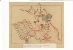 The Band Concert (LillieBuggy) Tags: postcard band mickey cute art disney