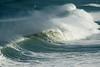 Gannet dwarfed by the huge surf (famkefonz) Tags: newzealand surf tasmansea gannet muriwai takapu yahoo:yourpictures=waterv2