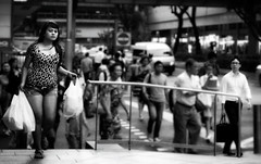 While we're watching others... somebody is watching you. (kyeniz) Tags: cameraphone street woman look shopping bag nokia singapore crossing candid crowd desire busy prints executive orchardroad whitecollar 808 hustleandbustle leopardprints denimshort pureview cutdenimshort