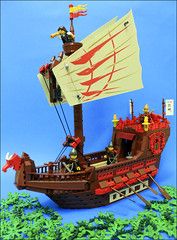 Japanese Junk (Fianat) Tags: tree castle classic japan japanese junk flickr ship lego ninja moc eurobricks