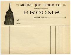 Mount Joy Broom Company, Mount Joy, Pa. (Alan Mays) Tags: old vintage ads advertising typography pennsylvania antique ephemera pa type lancastercounty 20thcentury advertisements receipts brooms mountjoy companies typefaces manufacturers twentiethcentury mtjoy billheads mountjoybroomco mountjoybroom