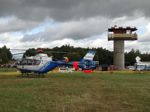 ADAC Rallye Deutschland 2012 404 Arena Panzerplatte - Eurocopter EC135 D-HRPA Polizei