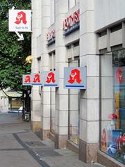 Essen - Pharmacy (.patrick.) Tags: house building sign logo essen haus pharmacy schild nrw ruhrgebiet gebäude nordrheinwestfalen apotheke ruhrarea northrhinewestphalia stadtkern einhornapotheke