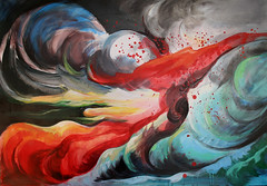 "Quadro ""Turbolenze"" (dina isacchi) Tags: moon nature painting arte natura quadro luna astratto turbolenze dipinto"