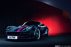 Satin Black and Pink Lotus Exige S Long Exposure Light Painted (NWVT.co.uk) Tags: uk pink light urban black cup sports car photography star long exposure industrial photographer lotus unique painted s automotive september trail satin rare pinkie matte global 2012 s2 sportscars exige nwvt