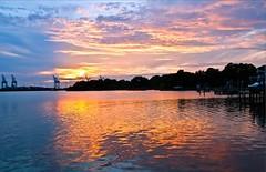 Beautiful September sunset. Norfolk Yacht & Country Club in Norfolk, VA. Photo by Mackenzie Brunson (Magnate Lab) Tags: sunset beautiful by club photo yacht country norfolk september mackenzie va brunson