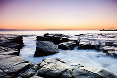 Curiosity (Matthew Post) Tags: ocean longexposure orange seascape beach sunrise rocks post matthew wave australia queensland sunshinecoast mooloolaba maroochydore pointcartwright matthewpost