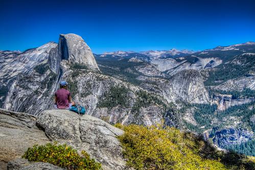 Half Dome & Hiker
