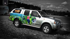 SEMOIS AVENTURE (Strates - Agence de publicite) Tags: nissan 4x4 pickup numrique impression realisation aventure semois lettrage vhicule navara strates