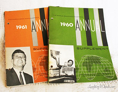 annuals (Laughing at Clouds) Tags: vintage estate sale 1967 booklet annual yardsale kennedy encyclopedia supplement 1960