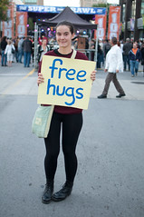 Free Hugs! (Haddadios) Tags: lake ontario girl 35mm square lens born nikon downtown bokeh great hamilton free super jackson hugs f18 swimmers crawl 2012 ruffians d90 knaan supercrawl