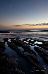 Lunar reflections 2 (Scapeshots) Tags: ocean sunset seascape beach colors sandiego lajolla waterscape windansea