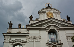 Strahovsky Kluster (dorochina) Tags: city sculpture church statue europe republic cross czech prague palace mala strana kluster strahovsky