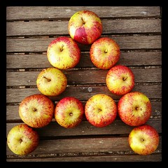 A for .... (jaqlawton) Tags: english apple sign fruit writing square orchard squareformat cox letter apples write alphabet language hefe a alphabetletter iphoneography instagramapp uploaded:by=instagram
