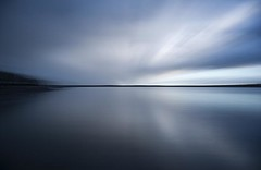 Cool Blue - Fading into the Horizon - River Tay - Dundee Scotland (Magdalen Green Photography) Tags: longexposure scotland rivertay dundee 1213 coolblue bluemood moodyblue iaingordon magdalengreenphotography fadingintothehorizon
