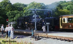 WD3182 Garratt No.87 Taking Water @ Beddgelert WHR Station 4.9.12 (davidncooke_686) Tags: wales train track railway highland welsh ng gauge narrow