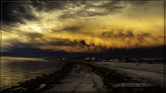 Sunset Sunday - 11 (Just Used Pixels) Tags: sunset storm beach clouds utah olympus antelopeisland greatsaltlake e30 gsl