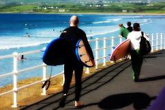 Surfers Walk (don kearns) Tags: ireland beach clare surfing surfschool lahinch 2012 lehinch