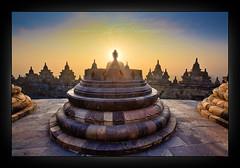 Borobudur, Indonesia (Albert Photo) Tags: sunset sky sun heritage history monument sunrise indonesia java asia stupa buddhist borobudur historicalsites mahayana yogyakart historicallegacy