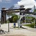 L'entrata al parco tematico Hacienda Napoles, la vecchia residenza di Pablo Escobar