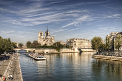 Notre Dame From Pont de la Tournelle, Paris (IFM Photographic) Tags: paris france seine canon cathedral 4th notredame tamron 75004 hdr notredamedeparis notredamecathedral 4e 4me ledelacit pontdelatournelle pontdelarchevch 450d 1024mm 4tharrondisment sp1024mmf3545 tamronsp1024mmf3545 arondisment img195345tonemappeda
