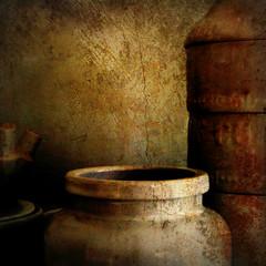 smudged pots (msdonnalee) Tags: stilllife texture ceramic overlay pot jar pottery memoriesbook magicunicornverybest