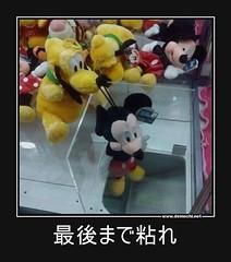 最後まで粘れ #ミッキーマウス #粘る #UFOキャッチャー (Demochi.Net) Tags: life cute sexy japan fun japanese motivator culture 日本 ペット 猫 demotivator 金 家族 結婚 ゲイ 女 子供 おっぱい 愛犬 政治 社会 巨乳 文化 眼鏡 教育 demotivators 経済 女性 初恋 r18 女子 カップル 子猫 女装 お笑い motivators 会社 少子化 企業 ユーモア 恋 悪い 格差 風刺 一言 デモチ 大喜利