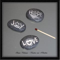 Deko-Steine (n8eulchen) Tags: love hope joy steine polymerclay fimo clay stein dekosteine n8eulchen