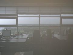 Office fog (Wiljo van Essen) Tags: mist fog nikon kantoor almere reflectie melkglas eurotoren p7100 nikoncoolpixp7100