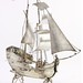Lot 2038.  Dutch Silver Sailing Ship Miniature