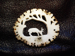 antler carving. (fishfish_01) Tags: carving carve reddeer antler