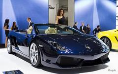 Dark Blue (@raphcars) Tags: lamborghini gallardo lp5604 lp560 spyder roadster eos 7d paris france motor auto show 2012 mondial automobile hostess model girl dark blue raphcars